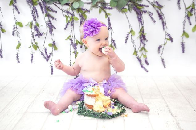 Hazel's Smash Cake, First Birthday