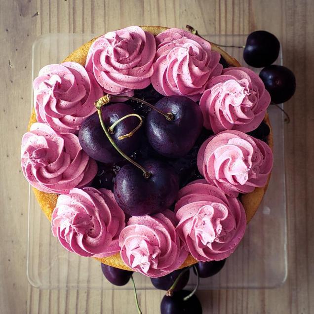 Lemon Cherry cake 2