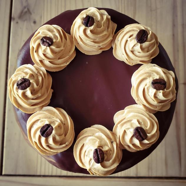 mocha latte cake 2