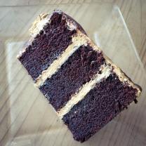 mocha latte cake slice